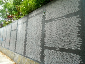 This is part of the memorial they have for all those who died or who went missing during El Salvadorian Civil War