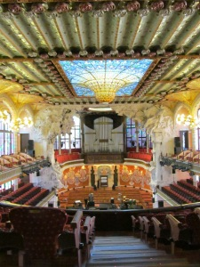 Inside of Palau de la Musica in Barcelona