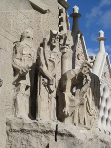 Part of Gaudi's Sacra Familia in Barcelona