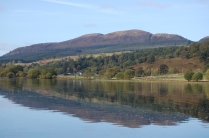 The Lake of Menteith at Inchmahome Priory in Scotland