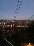 Mt Hood from the cable car in Portland, Oregon