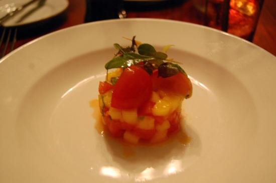 Mango, tomato, watermelon, mint