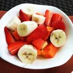 Bananas, strawberries, and papaya
