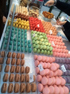 Beautiful rainbow of macarons