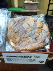 Gluten-free gingersnap from Blossom du Jour