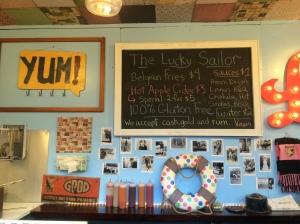 The Lucky Sailor Belgian Frites. YUM!