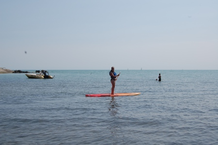 Stand-Up Paddle Board in Lake Erie, Canada