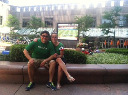 Cheering on Mexico during FIFA World Cup in Philadelphia, PA