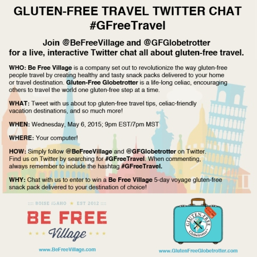 Gluten-Free Travel Twitter Chat