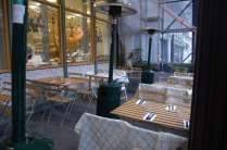 The outdoor restaurant