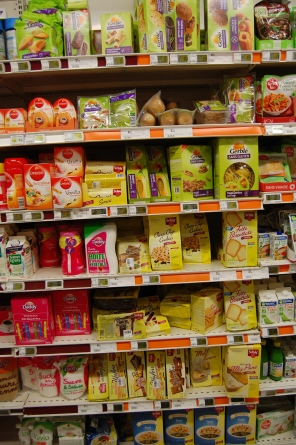 gluten-free food at the Paris supermarket