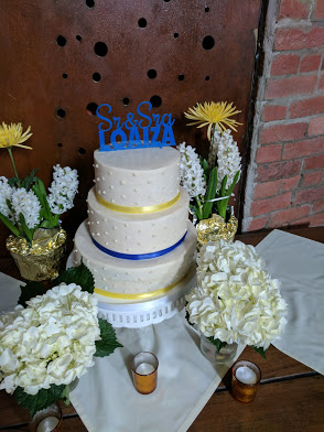 Our amazing gluten-free wedding cake from By the Way Bakery in New York City