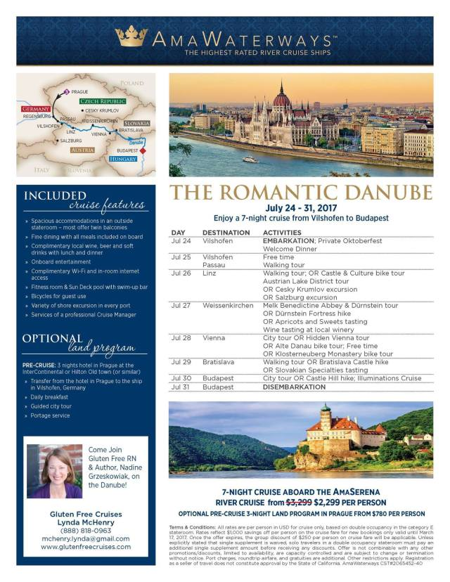Danube Gluten-Free Food and Wine Cruise