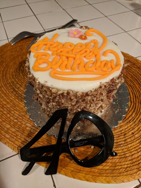 Gluten-Free Birthday Cake from Melinda's GF Bakery in Capitola, CA
