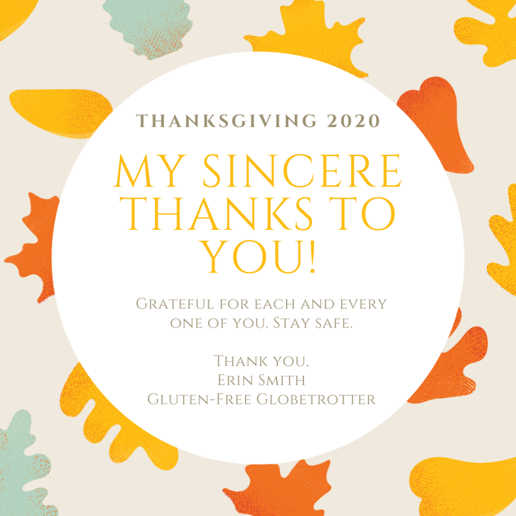 Happy Thanksgiving from Gluten-Free Globetrotter